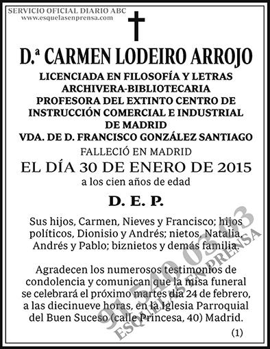 Carmen Lodeiro Arrojo